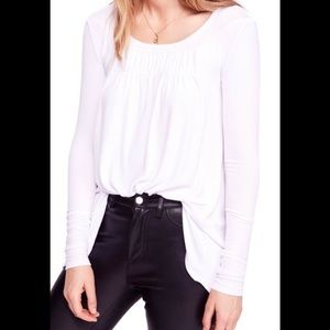 NWT Free People Love Valley Long Sleeve Top